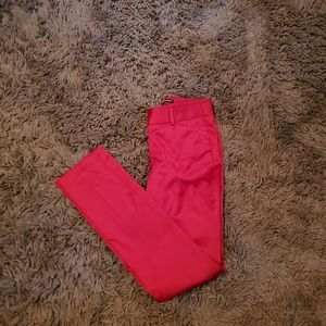 Express Red Satin Editor Pants
